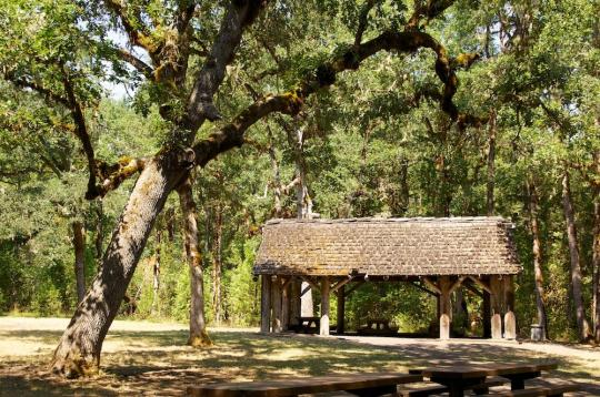 Pavilion in Packard Creek group site - click on photo to view gallery