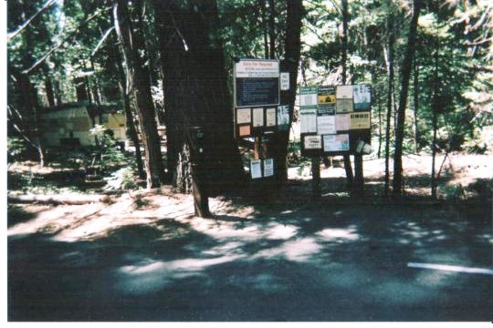 Pay Station at entrance to Cherry Valley Campground east of Sonora, California