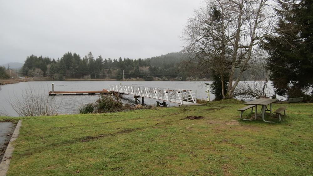 New dock at Eckman Lake