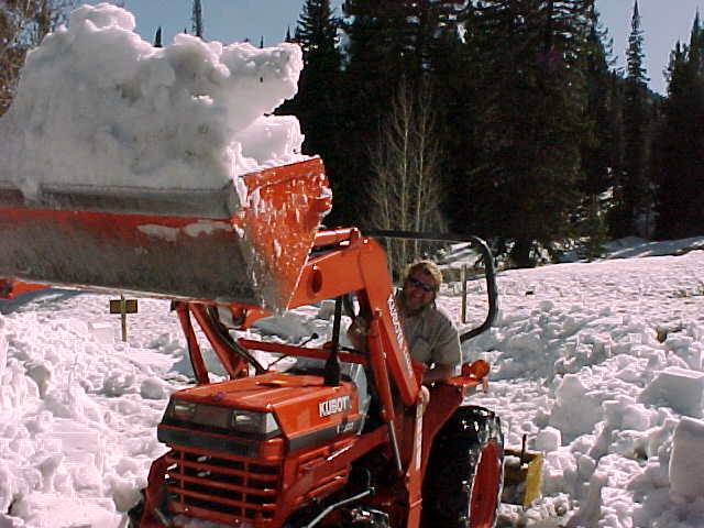 Clearing snow from Jordan Pines Campground, near Salt Lake City, UT