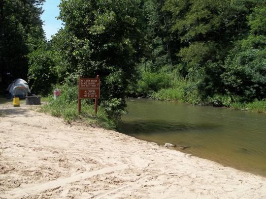 Pine River canoe landing