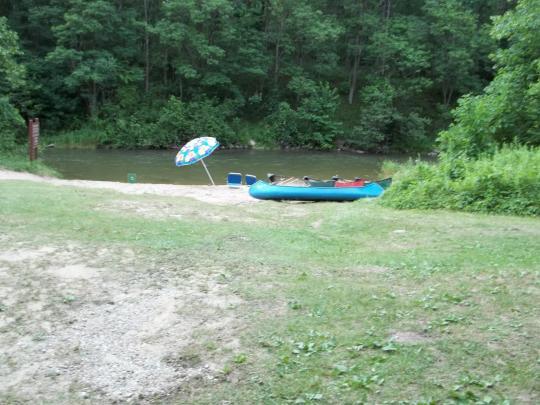 Canoe campsites