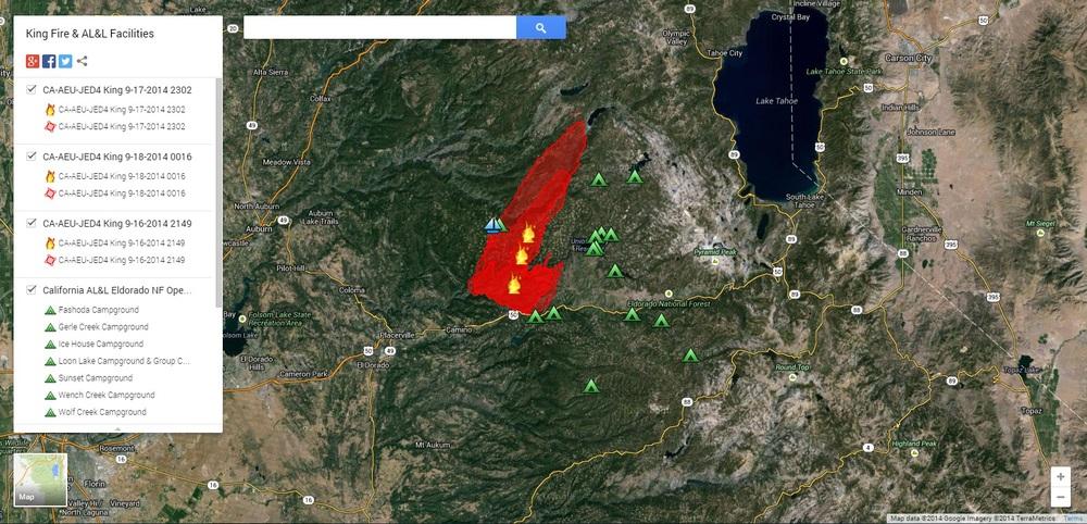 Map shows fire perimeter progression over last 3 days