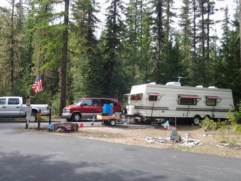 Host Site - by Devil's Elbow Campground Host (2013-14), Sharon Jagger