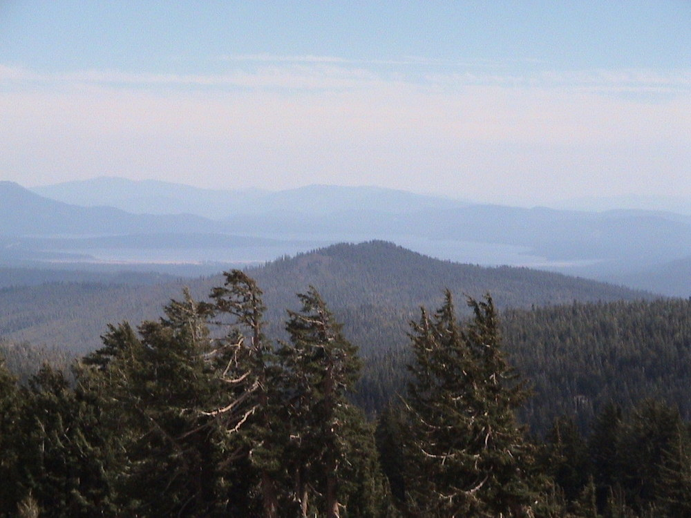 View of Lake Almanor from Mt Lassen