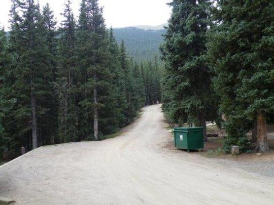 Gravel roads and garbage dumpsters