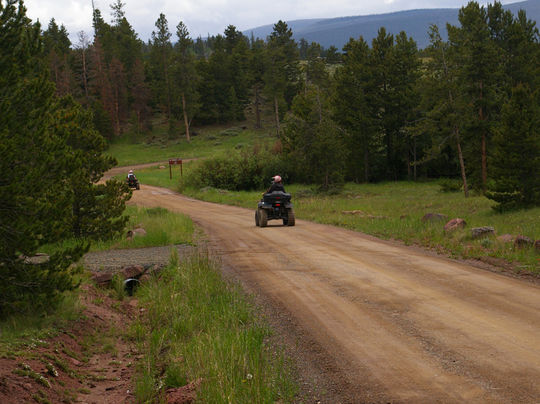 ATV and hiking trails from the campground