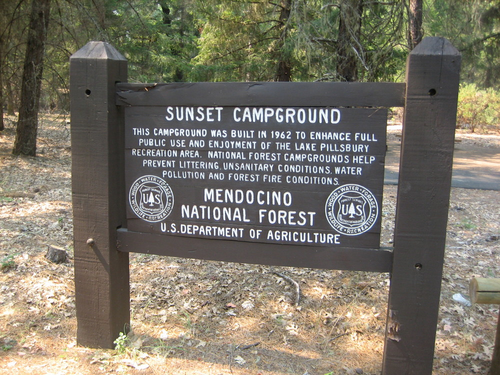 Sunset Point Campground on Lake Pillsbury, California