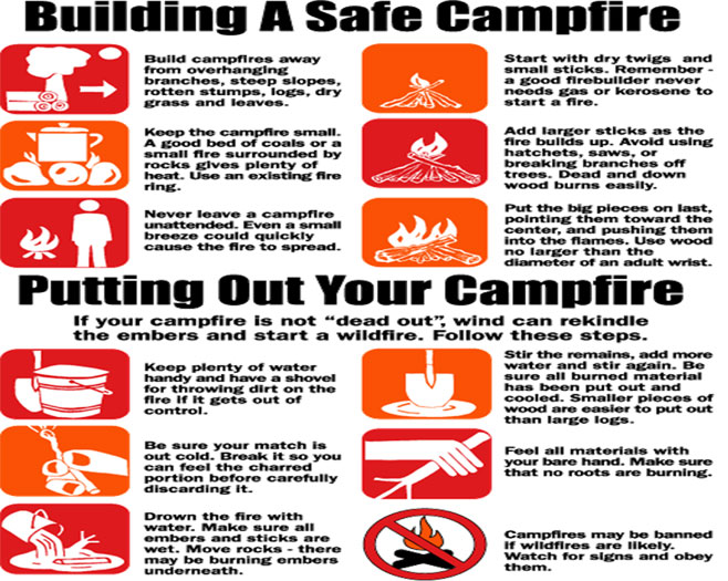Click above to see more campfire safety tips from Smokey Bear