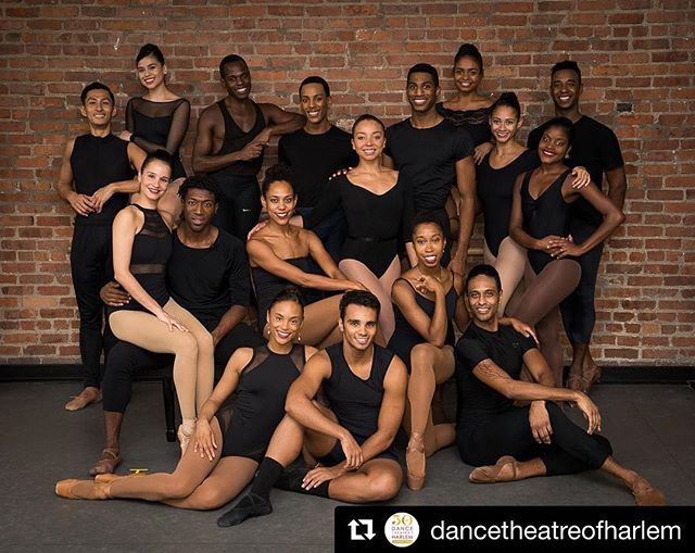 So excited to see tonight's  @dancetheatreofharlem performance at @nycitycenter! ❤️❤️❤️ ・・・ Tonight is the opening of our 2019 NY Season! The DTH Company, DTH School and special guest artists are ready to light up the New York City Center stage! ✨Dance Theatre Of Harlem✨ #DTH50 #TheLegacyContinues . 📸: Cherylynn Tsushima Dancers: (Top Row L-R) Choong Hoon Lee, Crystal Serrano, Christopher McDaniel, Anthony Santos, Derek Brockington, Alexandra Hutchinson, Dustin James. (Middle Row L-R) Yinet Fernandez, Da'Von Doane, Lindsey Croop, Stephanie Rae Williams, Alicia Mae Holloway, Ingrid Silva. (Bottom Row L-R) Amanda Smith, Dylan Santos, Daphne Lee, Anthony Spaulding