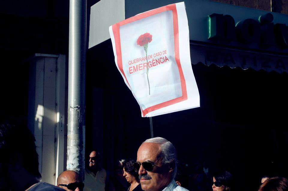 Manifestação 29 de Setembro 2012, cidade de Aveiro. Fotografia por Mia Lavernne