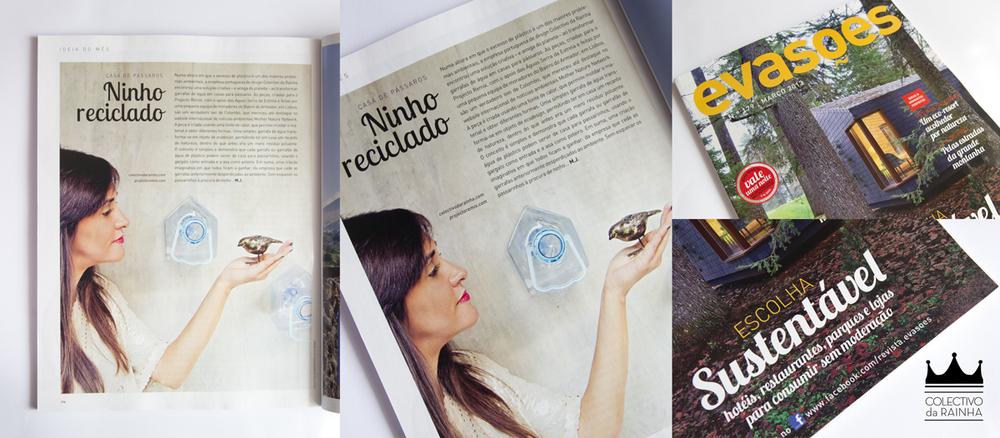 """Revista Evasões - rubrica """"Ideia do Mês"""" Ninho Reciclado - Março 2013"""