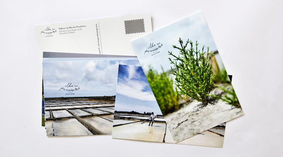 Conjunto de postais com fotografias da Ilha dos Puxadoiros / Set of postcards with photos of the Island