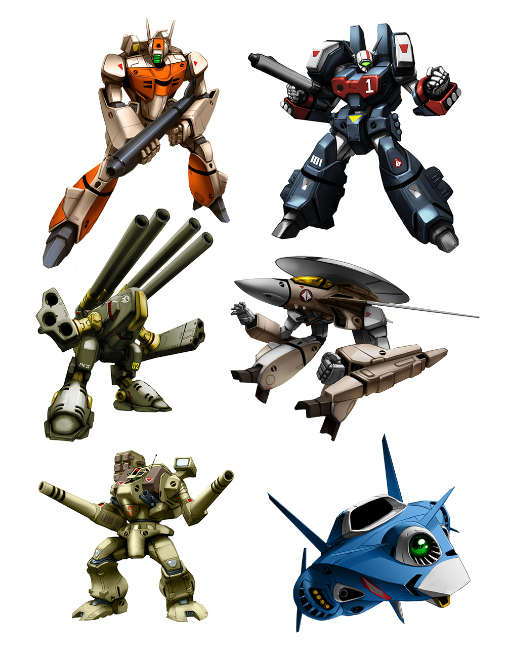 Mecha art for Robotech RPG Tactics