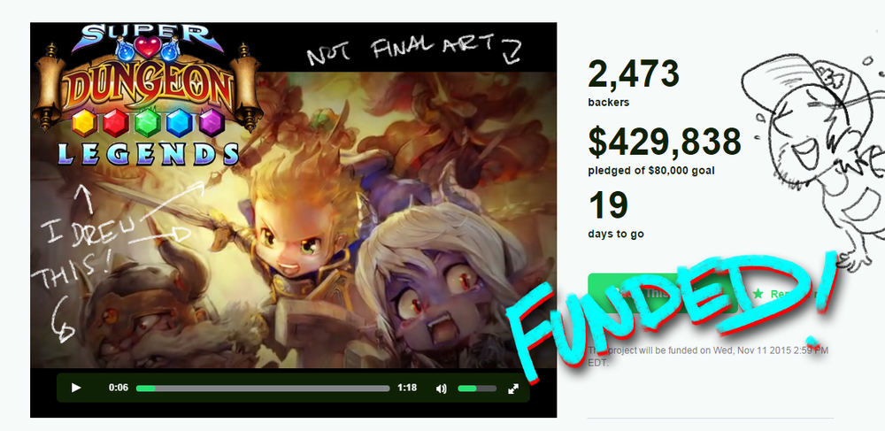 WE DID IT!! OVER 400,000!!! I have art all over this thing. Please check it out!
