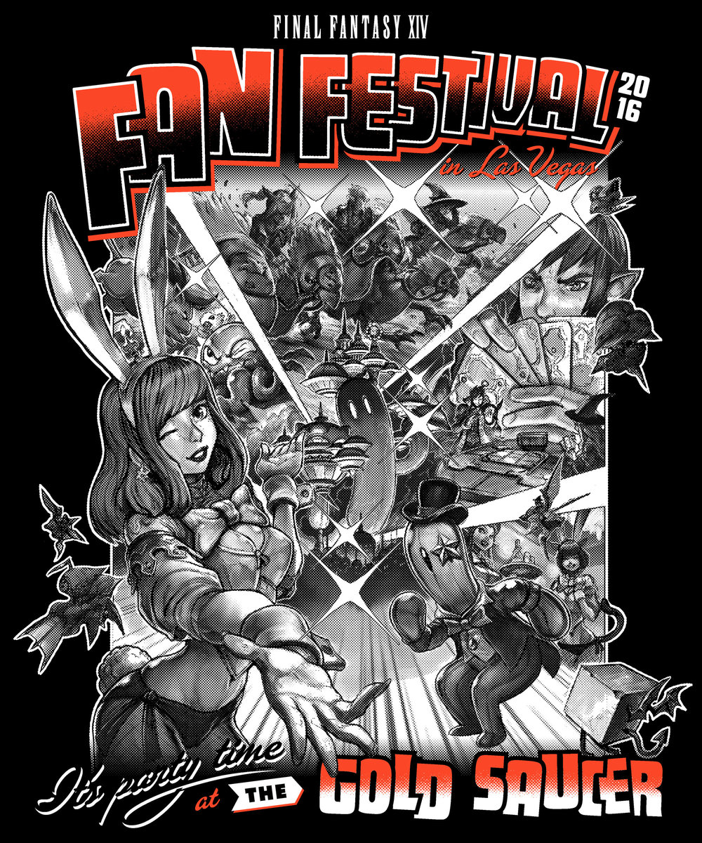Copy of Final Fantasy Fan Fest 2016 Gold Saucer shirt