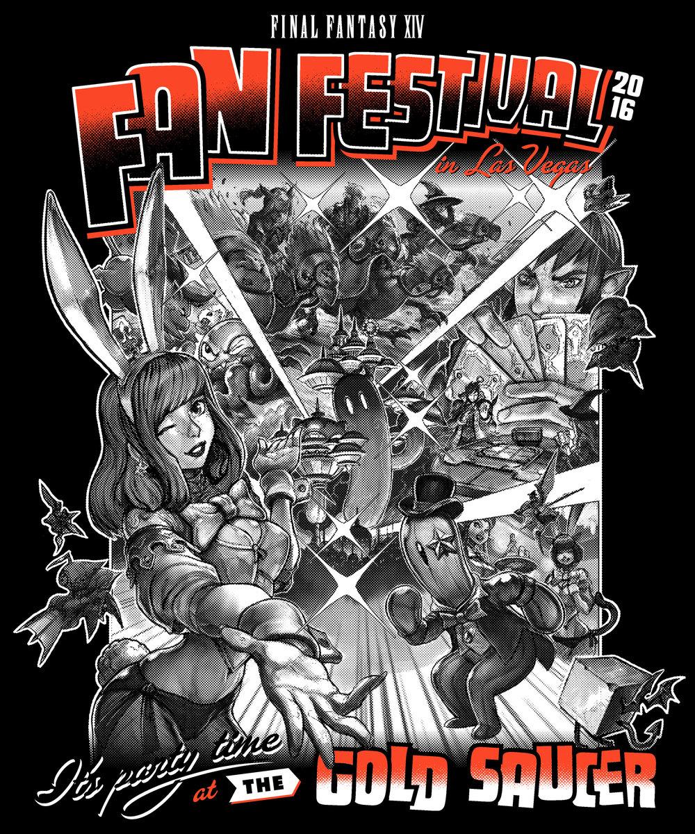 Final Fantasy Fan Fest 2016 Gold Saucer shirt