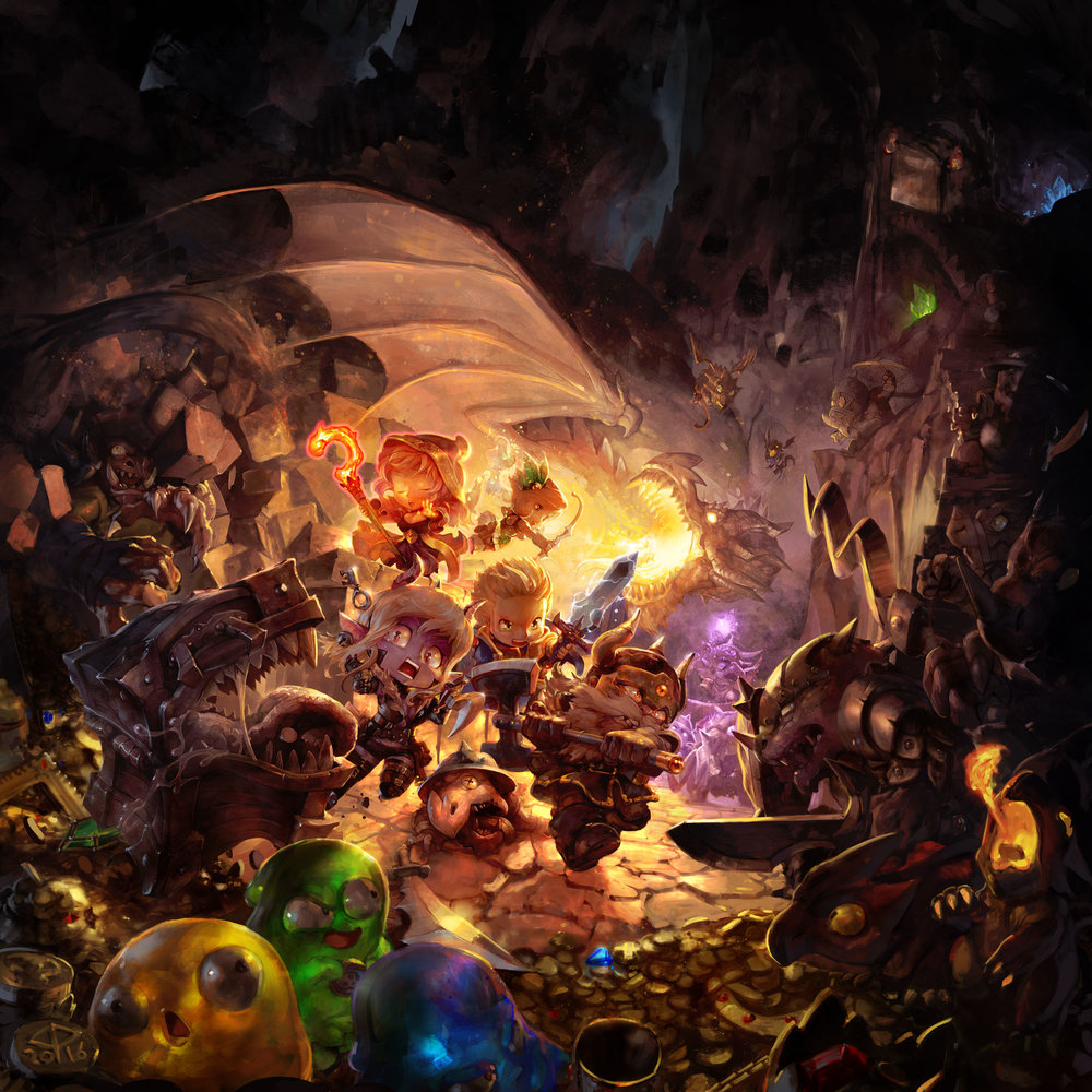 Super Dungeon Tactics Videogame Key Art