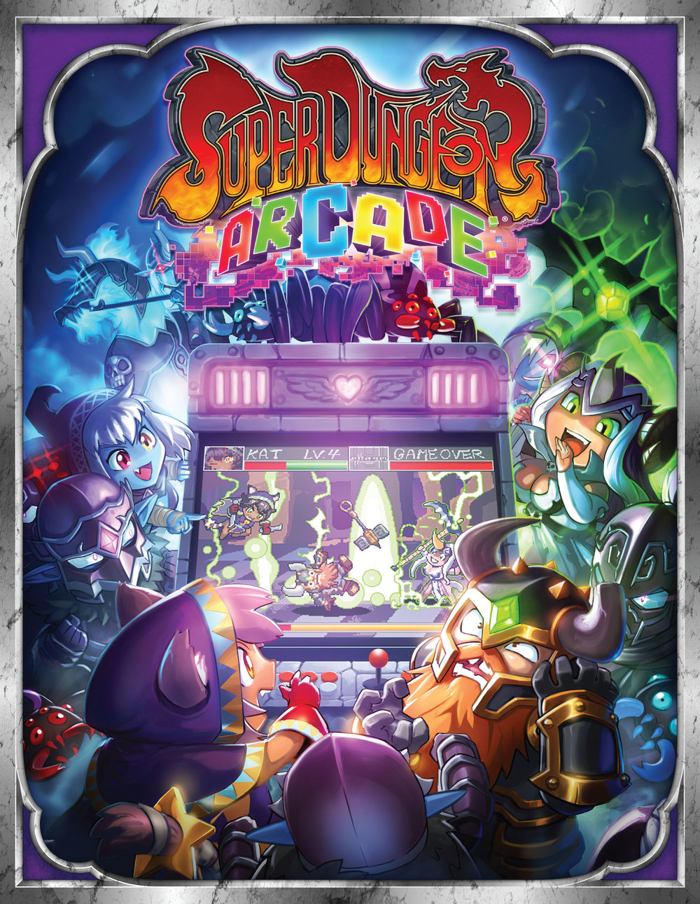 Super Dungeon Arcade rule book cover art