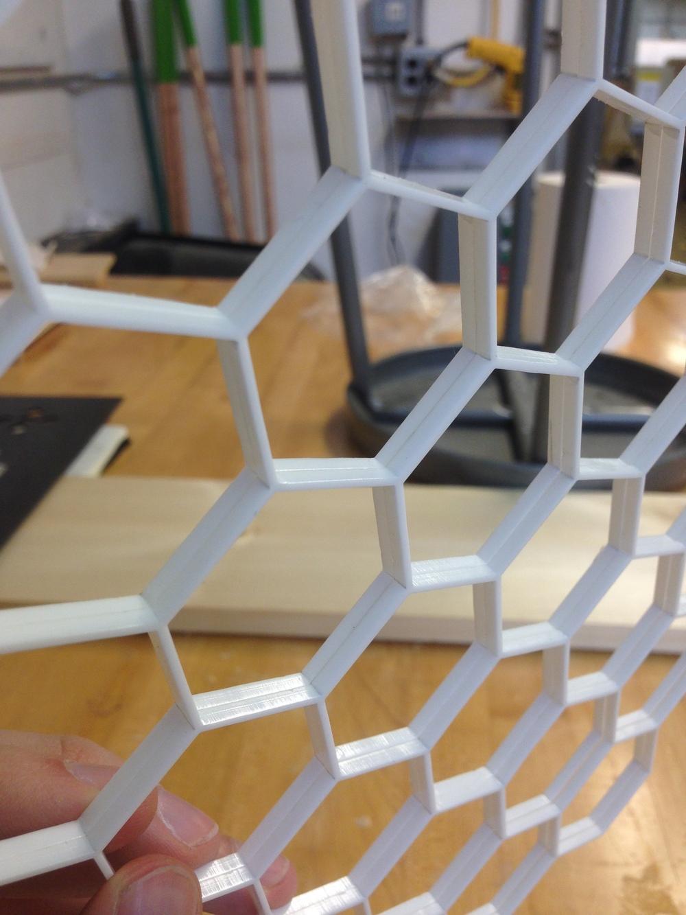 The honeycomb walls