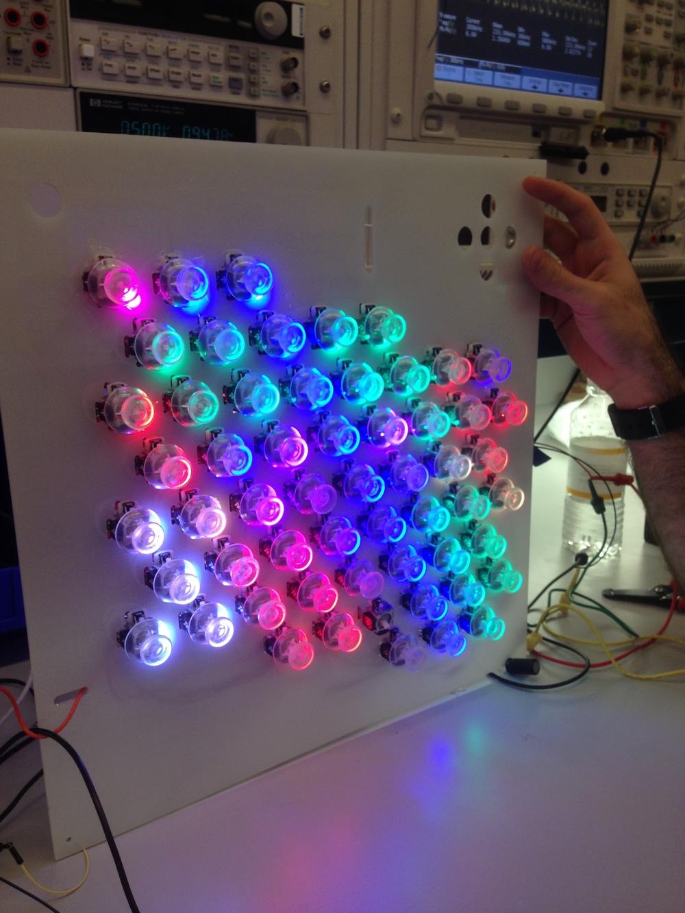 Testing the lights
