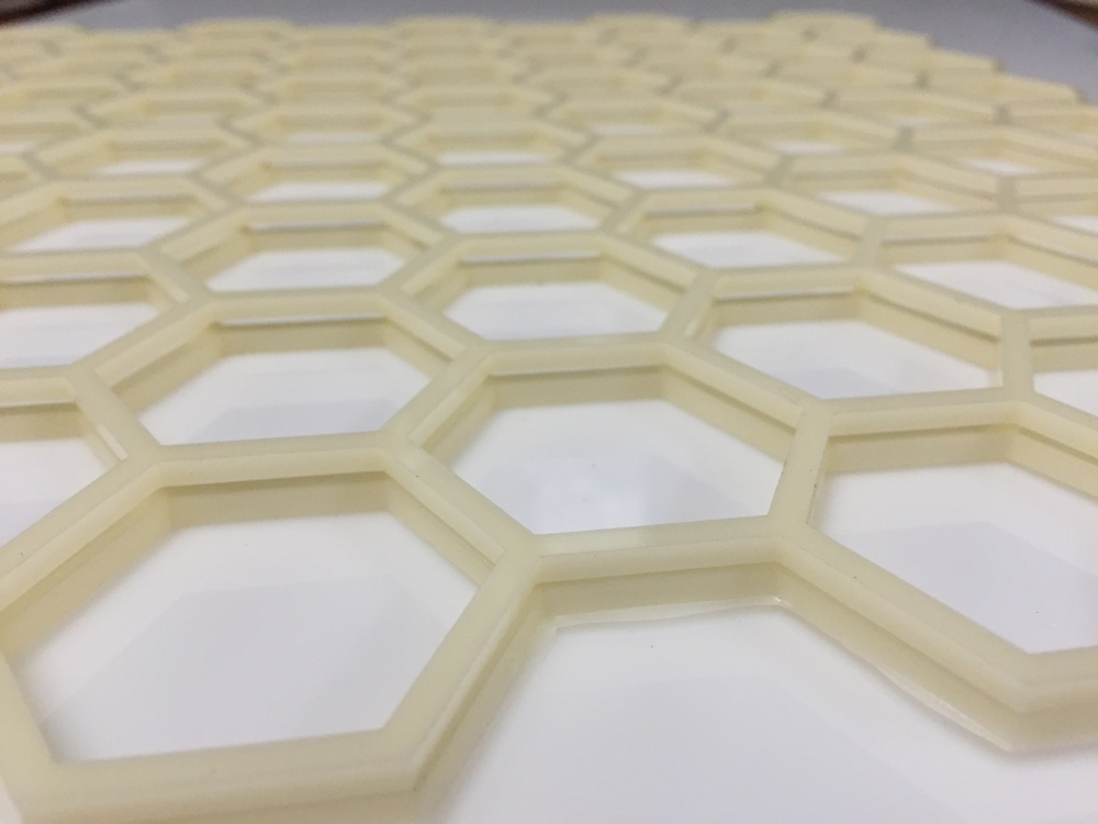 Two layers of the honeycomb stacked up