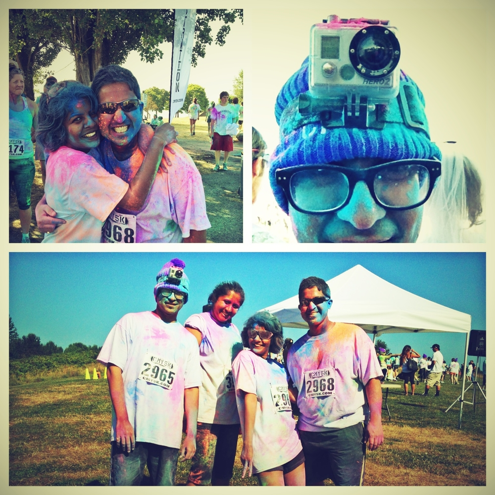 Having fun @ CMY5K - Cure for the common run!