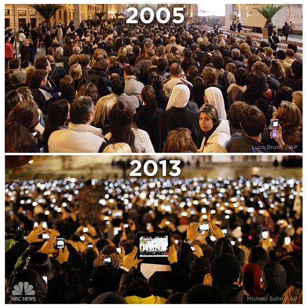 St Peter's Square and the mobile revolution!