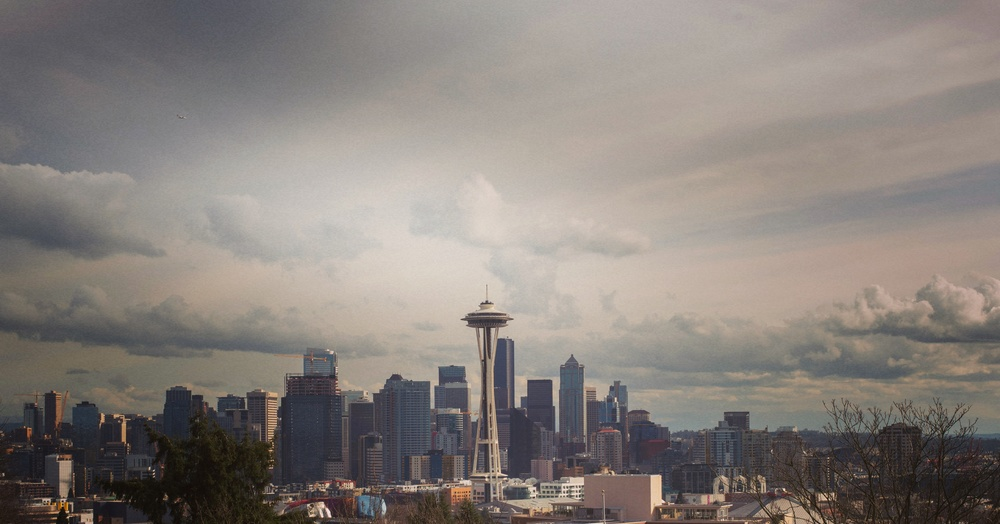 Space Needle and incredible Seattle clouds from Kerry Park