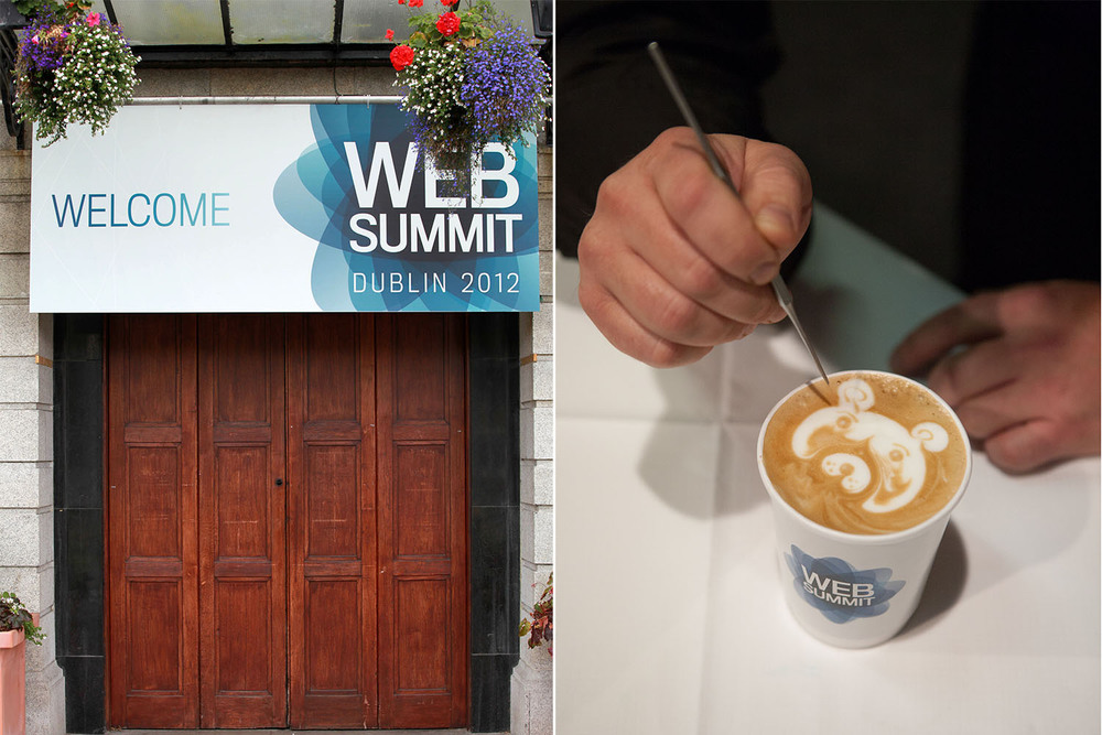 Entrance branding; branded disposable coffee cup.