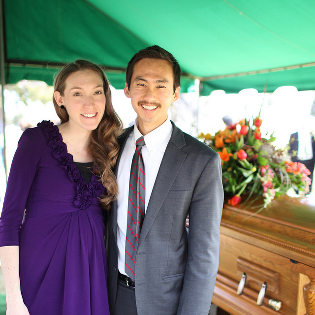 Alex & me at my father's funeral.