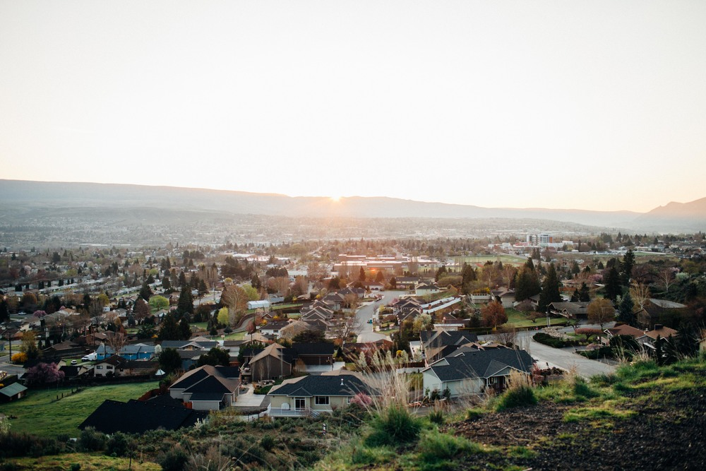 View of the Wenatchee Valley at sunrise this morning. We went to a lookout over the city with some close family friends to eat breakfast and remember my dad's passing.