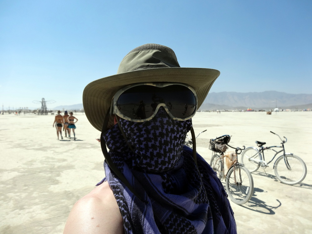 Dust masks, goggles, and wide brim hats are three absolute necessities - along with the willingness to experience the weather that demands them.