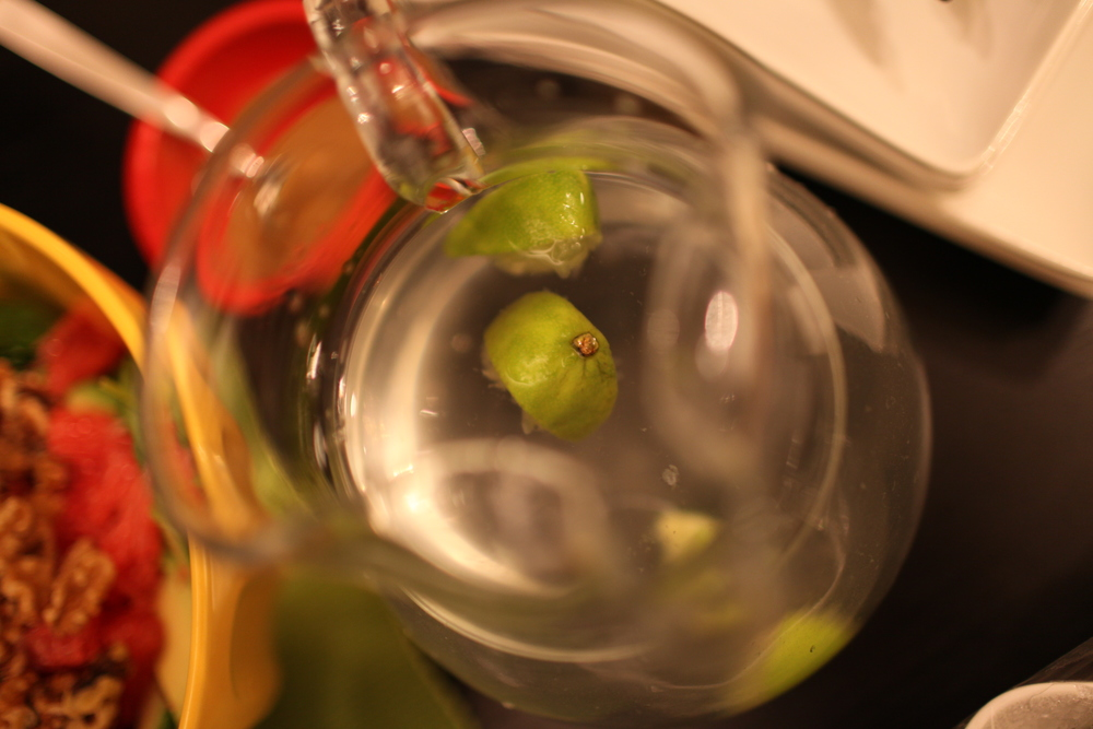 Water with Hand-Squeezed Lime Slices