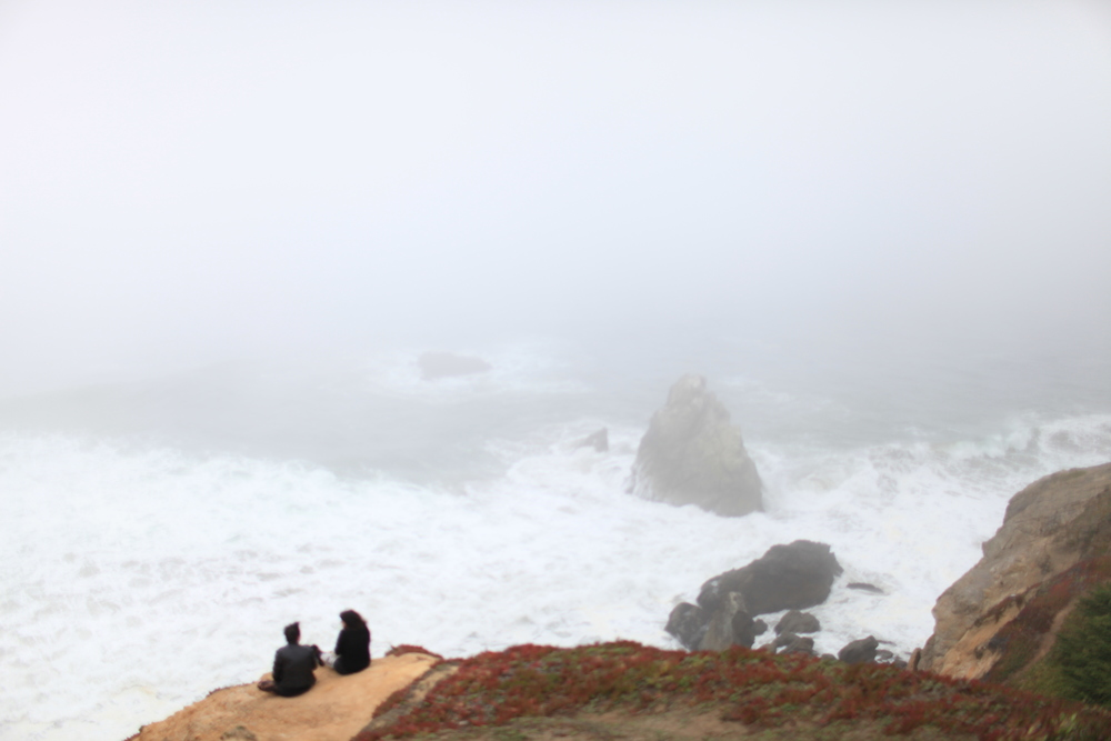 The fog over Land's End in San Francisco; some days feel like we're sitting on the edge of a fog-blanketed cliffside.