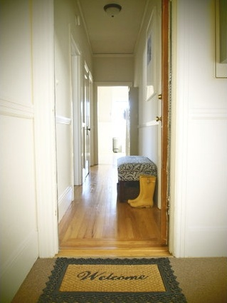 our narrow entryway