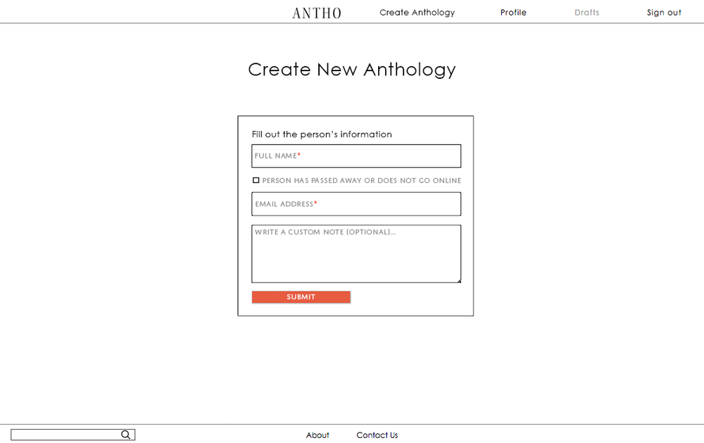 By creating an anthology for someone, you are basically inviting them to the Antho community.
