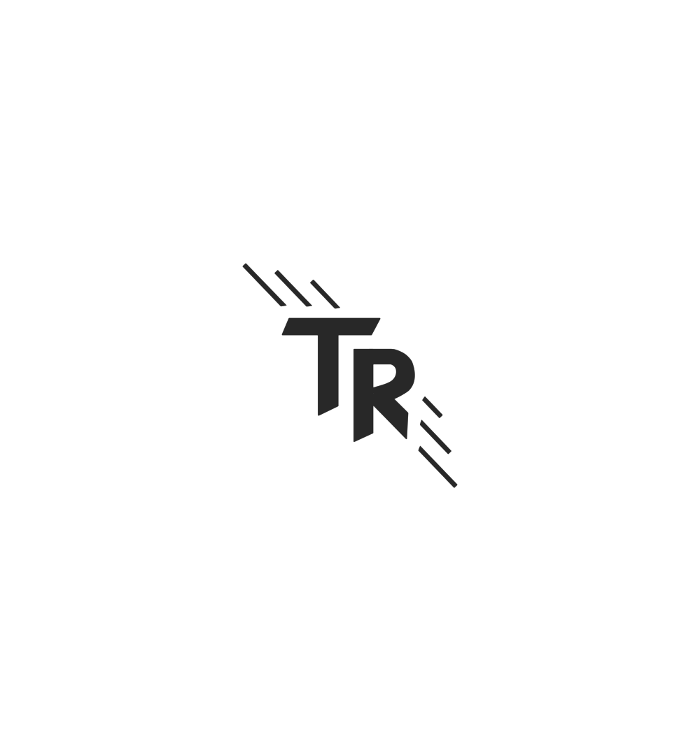 This is a quick sketch of a possible logo for Triathlon Ready. The lines surrounding the TR symbolize speed and call up the imagery of wings. Meanwhile, the letters have trimmed ends, invoking the idea that they aren't exactly standing, but actively in motion.
