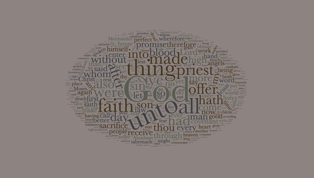 The Book of Hebrews Word Cloud - King James Version
