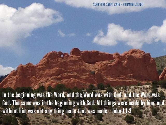 Scripture Snaps 2014 - John 1:1-3
