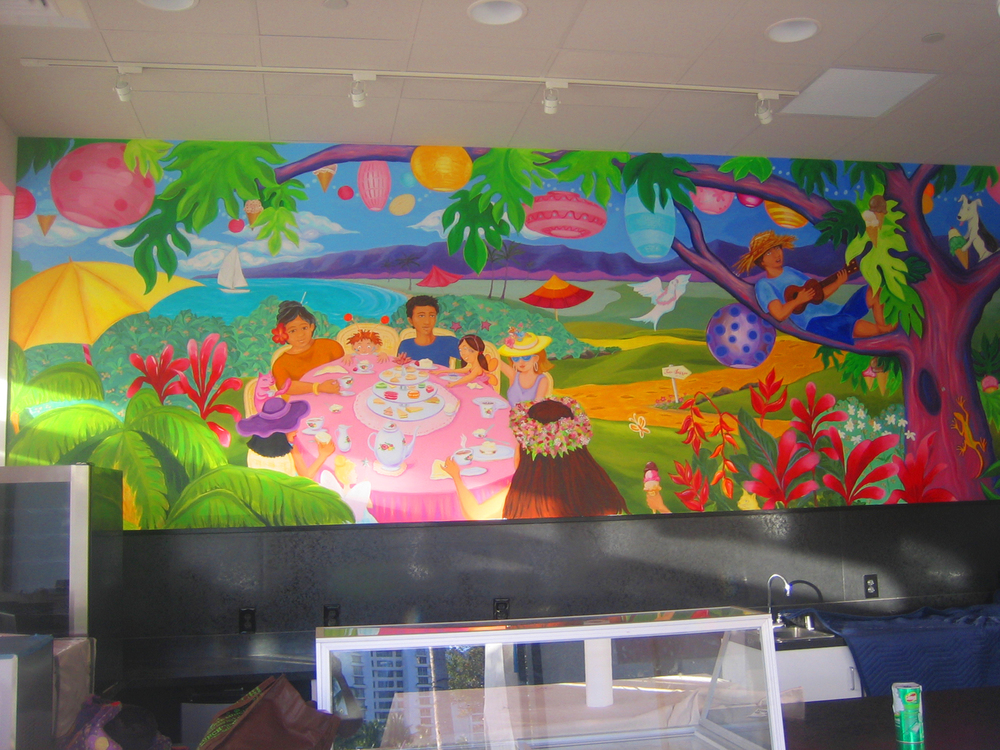 Mural for Two Scoops Ice Cream Parlor at KoOlina