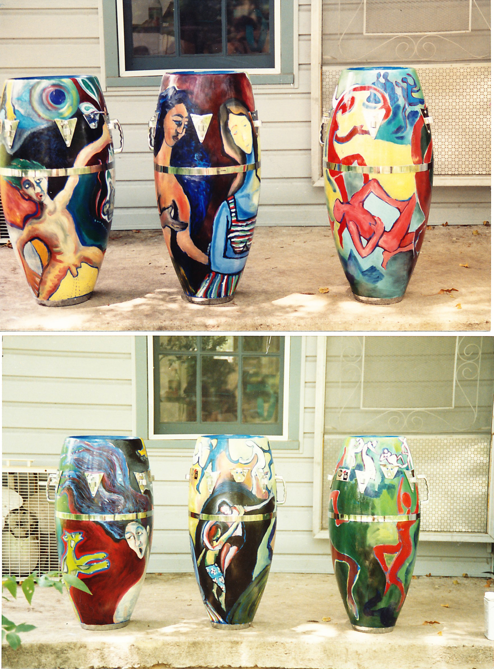 Congas painted for John Nelson, Poi Dog Pondering