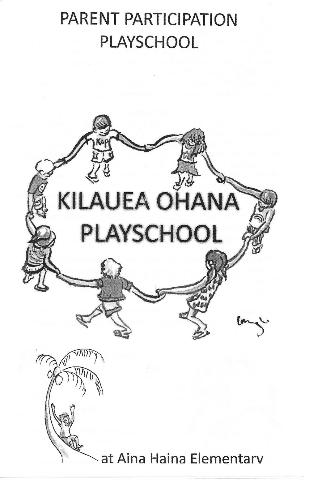 Kilauea Ohana Playschool Brochure