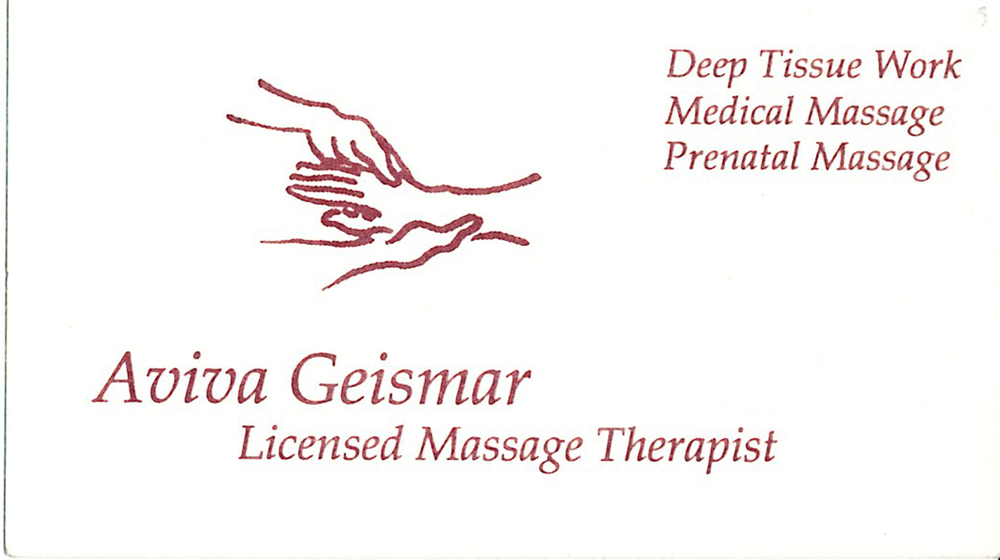 Logo for Massage Therapist, Aviva Geismar