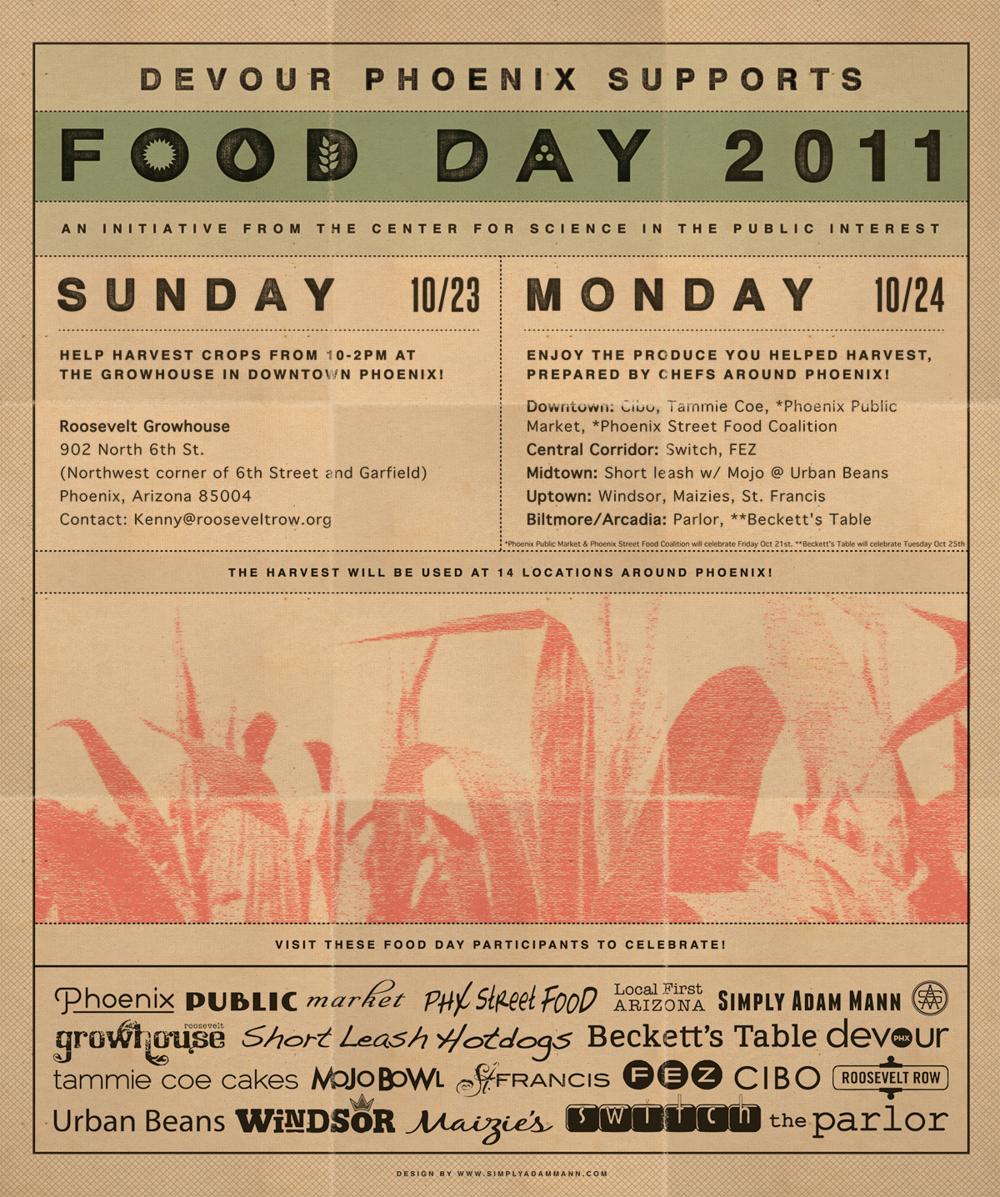 Devour Phoenix Food Day Graphic Design in Phoenix Arizona