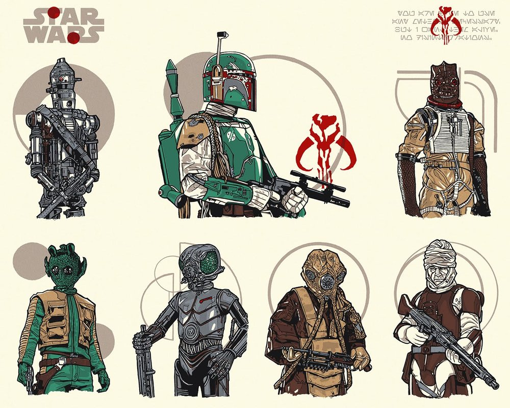 Ages 4 and Up - Series 9: Bounty Hunters - Uncut Sheet