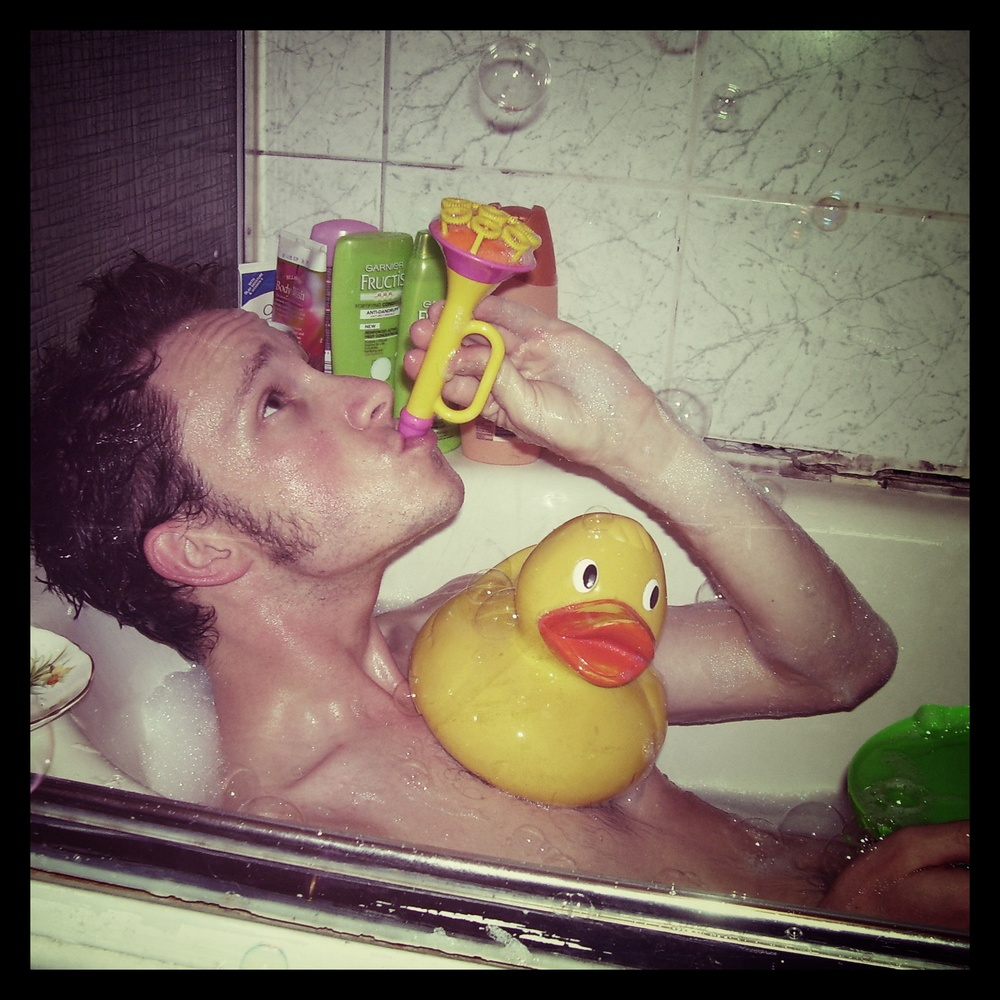 Vincent Bradley authentically captures the Rubber Duckie for the album's 'hidden' track.