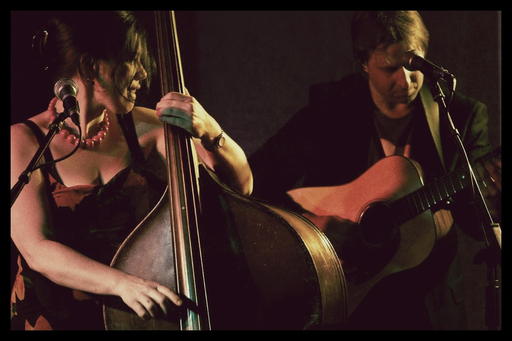 Damien Neil and I deep in concentration at the Merry Muse Photo by Brian Rosenberg
