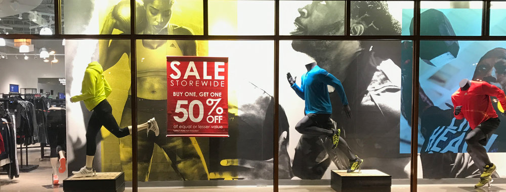 Front of store graphics