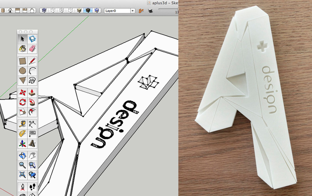 A+design logo 3d print by shapeways